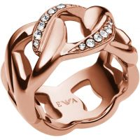 Femmes Emporio Armani PVD rose plating Taille M.5 Bague