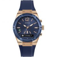Unisex Guess CONNECT Bluetooth Blau & Rose Gold 41mm Smartwatch Uhr