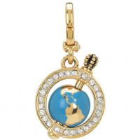 Femmes Juicy Couture PVD Or plaqué Petit Luxuries Globe Charm