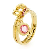 Femmes Juicy Couture Plaqué or Juicy Crown Bague Ensemble