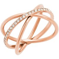 Femmes Michael Kors PVD rose plating Taille P Brilliance Bague